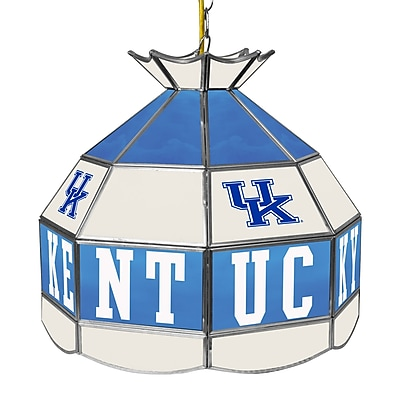 Trademark Global University of Kentucky 16 Inch Handmade Tiffany Style Lamp, White (KY1600-2)