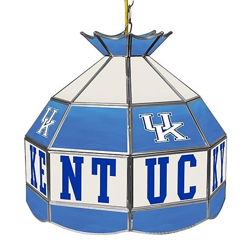Trademark Global University of Kentucky 16 Inch Handmade Tiffany Style Lamp, Blue (KY1600)
