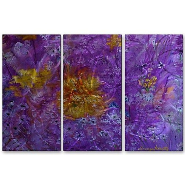 All My Walls 'Colorful Garden' by Lorenzo Roberts 3 Piece Painting Print Plaque Set