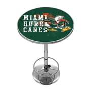 Trademark Global University of Miami Chrome Pub Table, Smoke (MIA2000-SMOKE)