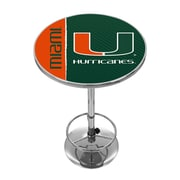 Trademark Global University of Miami Chrome Pub Table, Text (MIA2000-TXT)