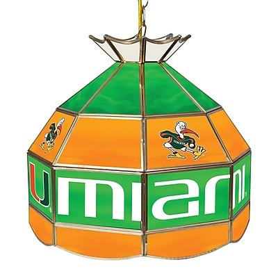 Trademark Global University of Miami 16 Inch Handmade Tiffany Style Lamp, Sebastian (MIA1600-SEB)