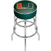 "Trademark Global University of Miami Chrome Bar Stool with Swivel, Wordmark, 31"" (MIA1000-WM)"