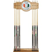 Trademark Global University of Miami Cue Rack with Mirror, Fade (MIA6000-FADE)