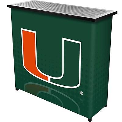 Trademark Global University of Miami Portable Bar with Case, Reflection (MIA8000-REF)