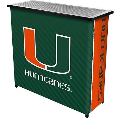 Trademark Global University of Miami Portable Bar with Case, Text (MIA8000-TXT)
