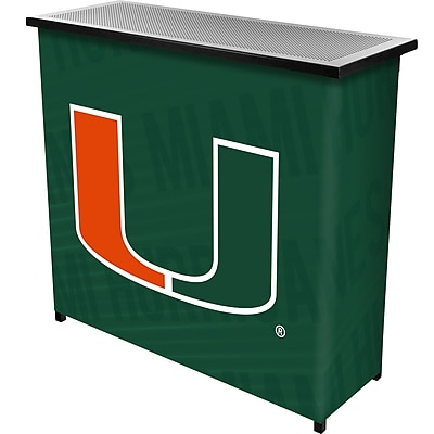Trademark Global University of Miami Portable Bar with Case, Wordmark (MIA8000-WM)