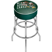 "Trademark Global University of Miami Sebastian Chrome Bar Stool with Swivel, 31"", Smoke (MIA1000-SMOKE)"
