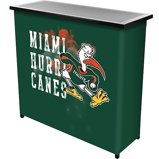 Trademark Global University of Miami Sebastian Portable Bar with Case, Smoke (MIA8000-SMOKE)
