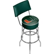 "Trademark Global University of Miami Swivel Bar Stool with Back, 41.75"", Fade (MIA1100-FADE)"