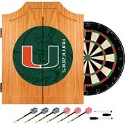 Trademark Global University of Miami Wood Dart Cabinet Set, Fade (MIA7000-FADE)