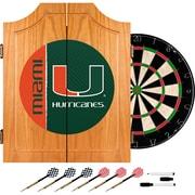 Trademark Global University of Miami Wood Dart Cabinet Set, Text (MIA7000-TXT)
