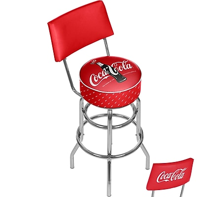 Trademark Global Coca-Cola Stool with Back, 100th Anniversary of the Coca-Cola Bottle, 41.75