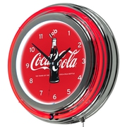 Trademark Global Coca-Cola Retro Neon Clock, 100th Anniversary of the Coca-Cola Bottle (COKE-1400-V100)