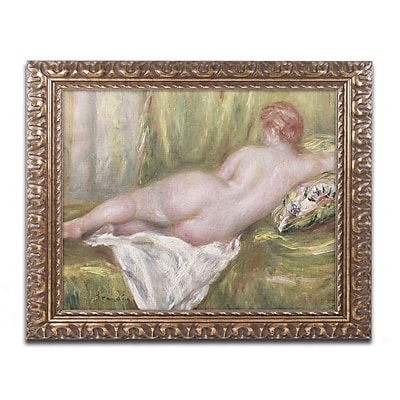 Trademark Global Pierre Renoir 'Reclining Nude from the Back' Ornate Framed Art, 11