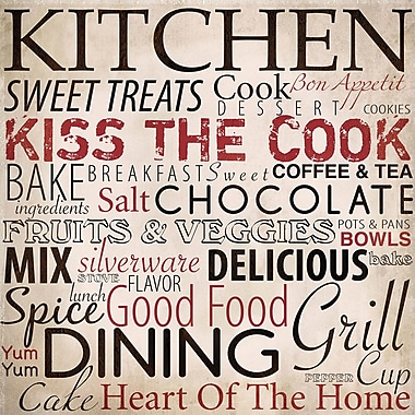 PTM Images Kitchen Textual Art on Wrapped Canvas
