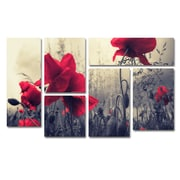 "Trademark Global Philippe Sainte-Laudy 'Red For Love' Multi-Panel Art Set, 47"" x 28"" (PSL0113-P6-SET)"