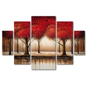"Trademark Global Rio 'Parade of Red Trees' Multi-Panel Art Set 40"" x 58"" (MA0301-P5-SET)"