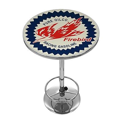 Trademark Global Pure Oil Chrome Pub Table, Firebird (AR2000-PURE)