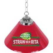 "Trademark Global 14""H Bud Light Straw-Ber-Rita Single Shade Bar Lamp (AB1200-SBR)"