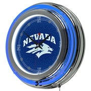 Trademark Global University of Nevada Double Ring Neon Clock, Chrome (CLC1400-UN)