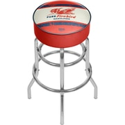 "Trademark Global 31"" Pure Oil Bar Stool with Swivel, Vintage Chrome (AR1000-PURE-V)"