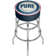 "Trademark Global Pure Oil Chrome Bar Stool with Swivel, Wordmark, 31"" (AR1000-PURE-W)"