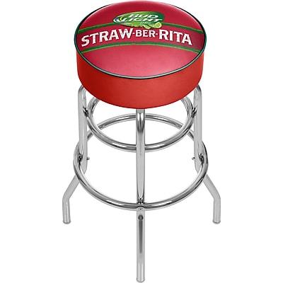 Trademark Global Bud Light Straw-Ber-Rita Padded Swivel Bar Stool, 31