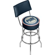 "Trademark Global 41.75""H Pure Oil Swivel Bar Stool with Back, Wordmark (AR1100-PURE-W)"