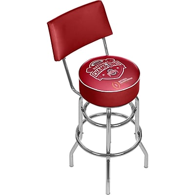 Trademark Global Ohio State University Swivel Bar Stool with Back, 41.75