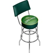 "Trademark Global Bud Light Lime-A-Rita Swivel Bar Stool with Back, 41.75"" (AB1100-LAR)"