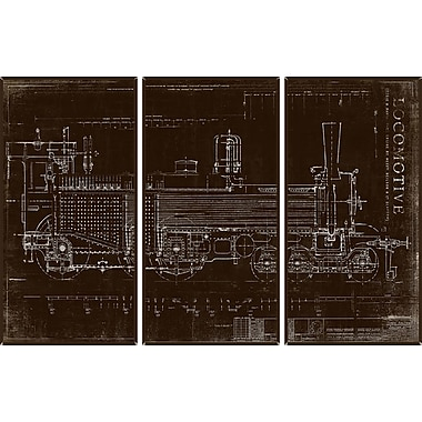 PTM Images Locomotive 3 Piece Graphic Art Set