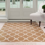 "Lavish Home Lattice Area Rug - Dark Beige & Ivory - 3'3""x5' (62-7656GC-335)"