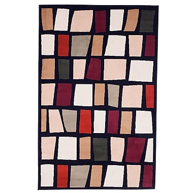Trademark Global Lavish Home Contemporary Color Blocks Area Rug, 5' x7'7