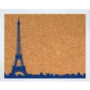 PTM Images Paris Skyline Framed Bulletin Board