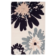 "Trademark Global Lavish Home Flower Area Rug, 5' x7'7"" (62-243I)"