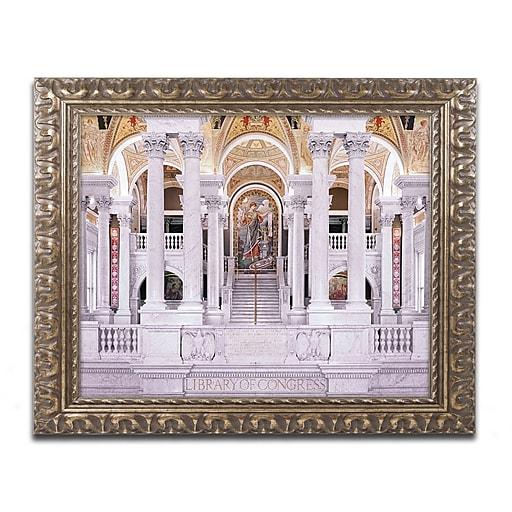 "Trademark Global Gregory O'Hanlon 'Library of Congress' 16"" x 20"" Ornate Framed Art (GO0040-G1620F)"
