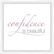 PTM Images Confidence Is Beautiful Gicl e Framed Textual Art