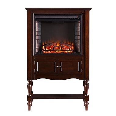 Wildon Home Roswel Wexford Electric Fireplace; Mahogany