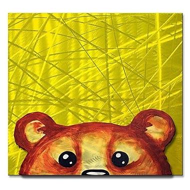 All My Walls 'Peekaboo Bear' by Melanie Jerdon Painting Print Plaque
