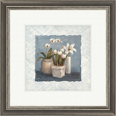 PTM Images Blue and White 2 Piece Framed Painting Print Set