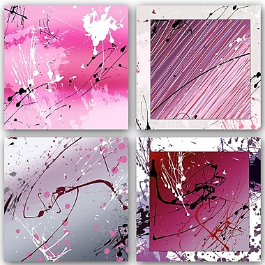 PTM Images Abstract 4 Piece Painting Print Set
