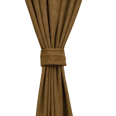 Wooded River Mountain Storm Curtain Tieback