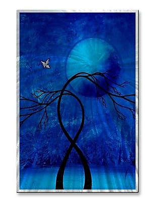 All My Walls 'A Night Bathed' by Jaime Zatloukal Best Painting Print Plaque