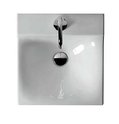 WS Bath Collections Buddy Ceramic 16'' Wall Mount Bathroom Sink