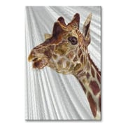 All My Walls 'Giraffe' by Stephanie Kriza Painting Print Plaque