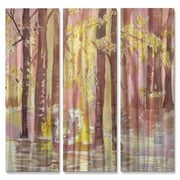All My Walls 'Trees' by Stephanie Kriza 3 Piece Painting Print Plaque Set