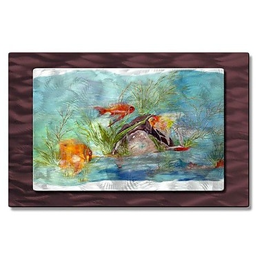 All My Walls 'Fishies in the Sea' by Stephanie Kriza Painting Print Plaque
