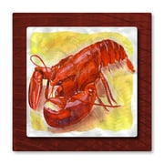 All My Walls 'Lobster' by Stephanie Kriza Painting Print Plaque