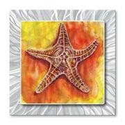 All My Walls 'Starfish' by Stephanie Kriza Painting Print Plaque